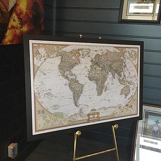 Beautifully framed World map, matte uv f