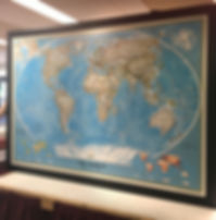 Large framed wall map edmonton
