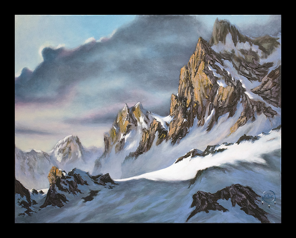 Mountain painting limited edition