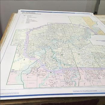 laminating oversize edmonton laminate maps