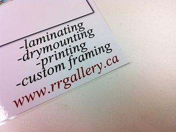 Edmonton poster laminated printing