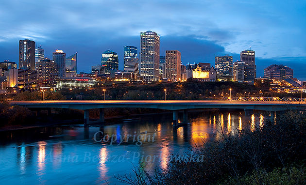 Gorgeous And Updated Edmonton Skyline Canvas Now Available