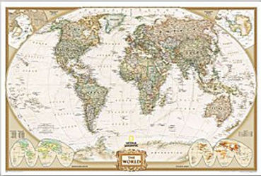 World wall maps Edmonton