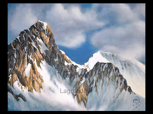 Mountain Dawn by Ellie Lagrandeur Canvas With 2 inch gallery wrap black border