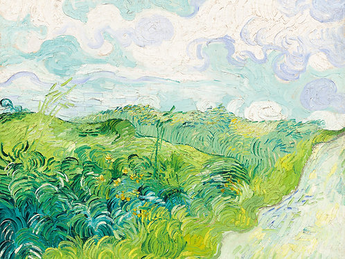 Green Wheat Fields, Auvers, 1890 Vincent Van Gogh Fine Art Print
