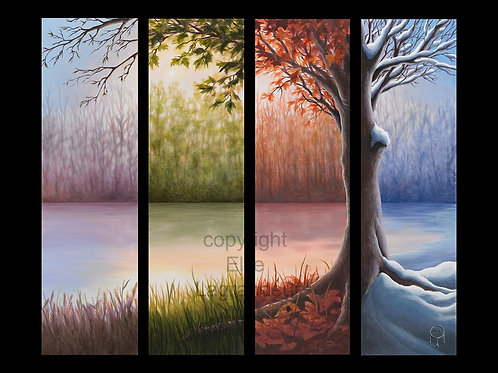 Four Seasons by Ellie Lagrandeur  Canvas With 2 inch gallery wrap black border