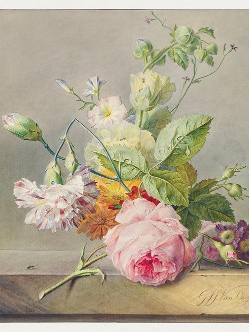 Floral Still Life Johannes van Os Fine Art Print