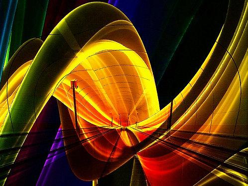 Neon spiral. Fine Art Print