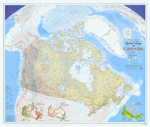 Map Of Canada Government Of Canada.Canada Physical Wall Map Matte Laminated 42 75 X 36 Government Of