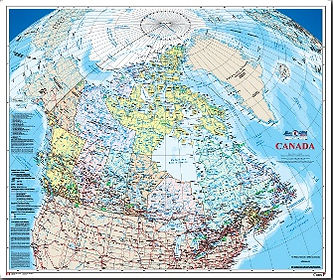 Canada wall map edmonton