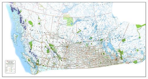 Western Canada Wall Map