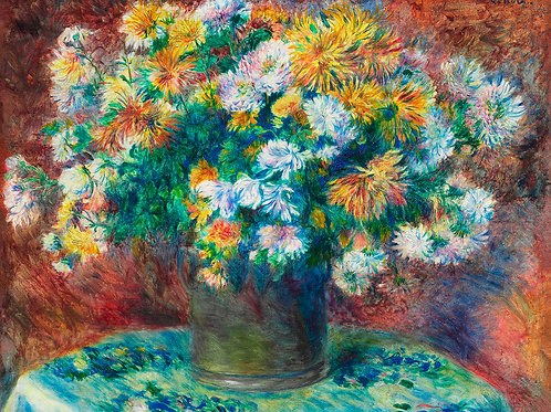 Chrysanthemums (1881–1882) by Renoir Fine Art Print