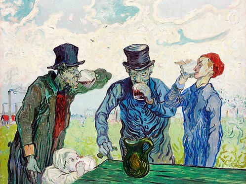The Drinkers (1890) by Vincent Van Gogh Fine Art Print