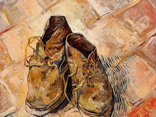 Shoes (1888) by Vincent Van Gogh Fine Art Print