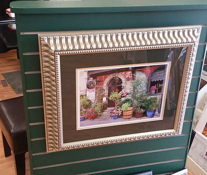 Beautifully framed metallic paper print