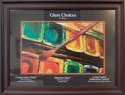 Custom picture framing edmonton uv glass options