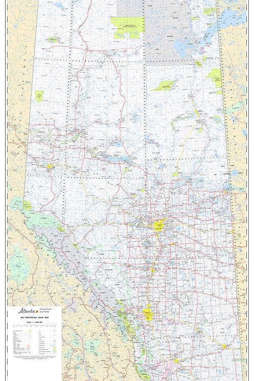 "Alberta Base Map 1:1million scale Laminated 51x31"""