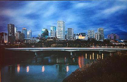 Edmonton cavas print