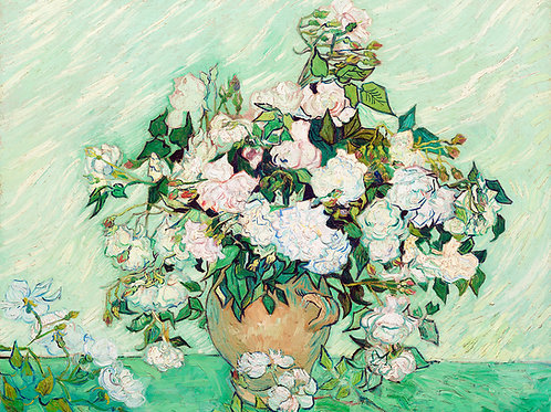 Vincent van Gogh  Roses, 1890 Fine Art Print