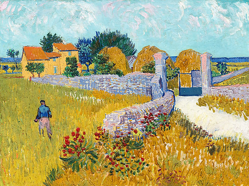 Farmhouse in Provence, 1888 by Vincent Van Gogh Fine Art Print