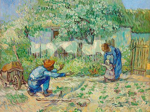 First Steps, after Millet (1890) by Vincent Van Gogh Fine Art Print
