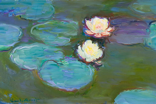 Nympheas (1897–1898) by Claude Monet Fine Art Print