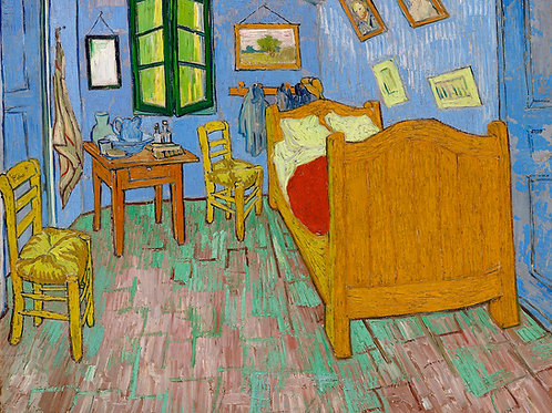 The Bedroom (1889) by Vincent Van Gogh Fine Art Print