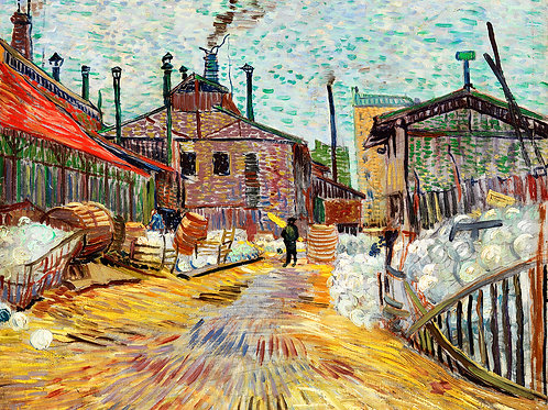 The Factory (1887) by Vincent Van Gogh Fine Art Print