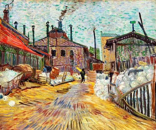 The Factory (1887) by Vincent Van Gogh Fine Art Print