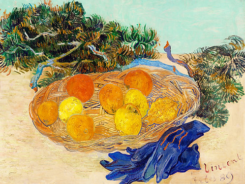 Vincent van Gogh  Still Life of Oranges and Lemons Fine Art Print