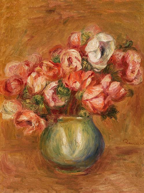 Anemones by Renoir Fine Art Print
