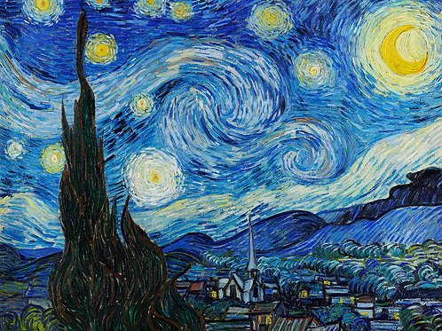Starry Night by Vincent Van Gogh Fine Art Print
