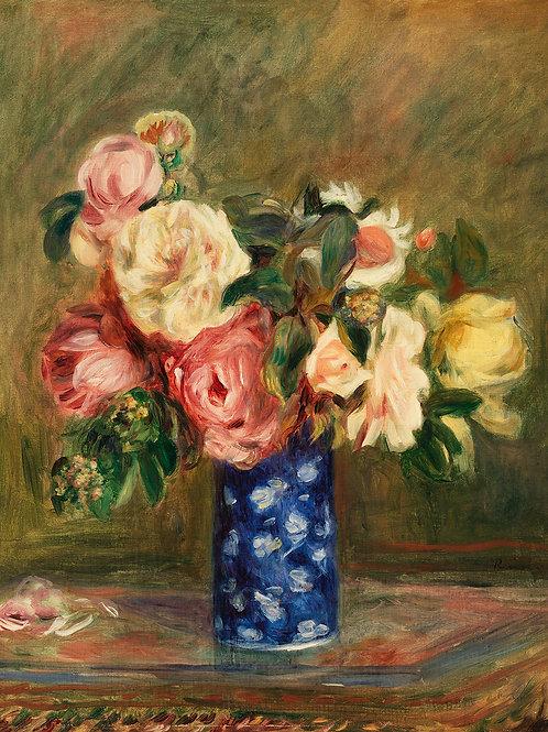 Bouquet of Roses (Le Bouquet de roses) by Renoir Fine Art Print