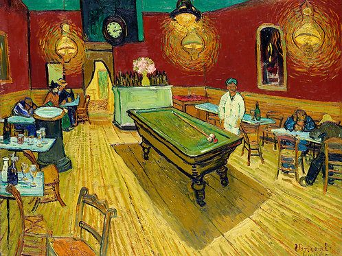 Le café de nuit (The Night Café) (1888) by Vincent van Gogh Fine Art Print