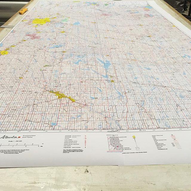 Alberta wall map
