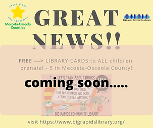 FREE LIBRARY CARDS to ALL children prena