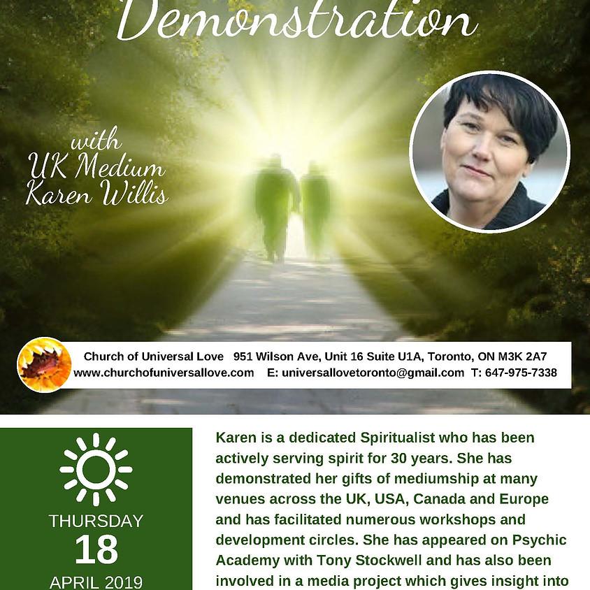 Mediumship Demonstration with Karen Willis