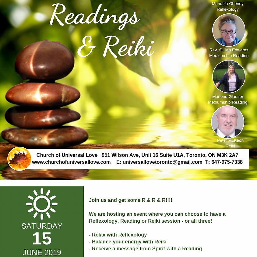 Reflexology, Readings & Reiki