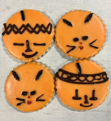 Pumpkins & Cats Cookies, each