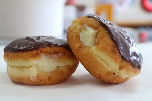 Boston Cream Donut, chocolate covered