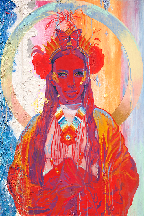 """The Sun Goddess"" 24in x 36in limited edition Print"