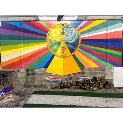 Pyramid Mural at Drifter Jacks Hoste