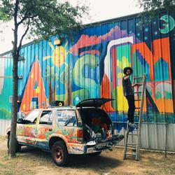 Austin Mural at Jimmy's Top Tech