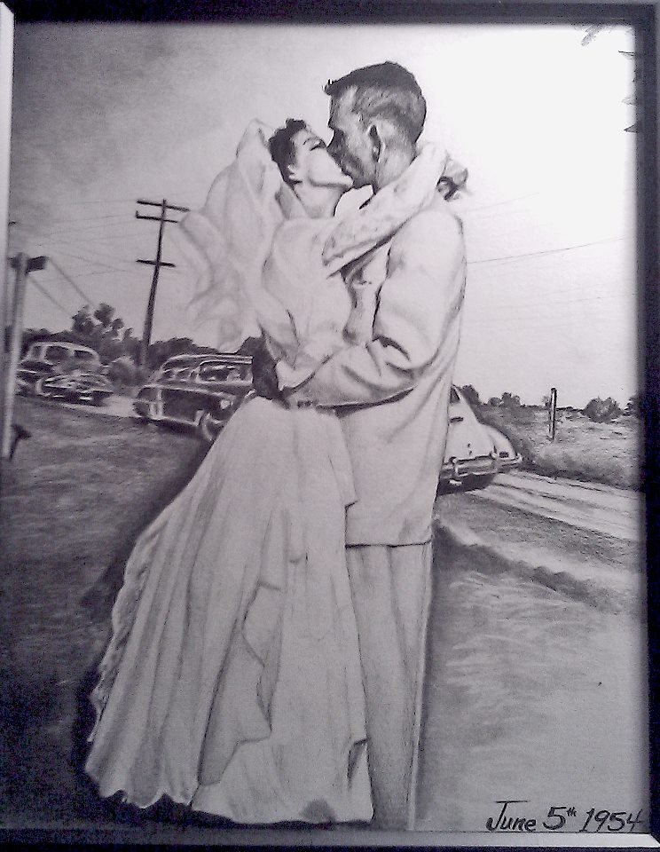 Portrait of Newly Weds from 1954