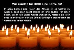 Wir zünden für DICH eine Kerze an!