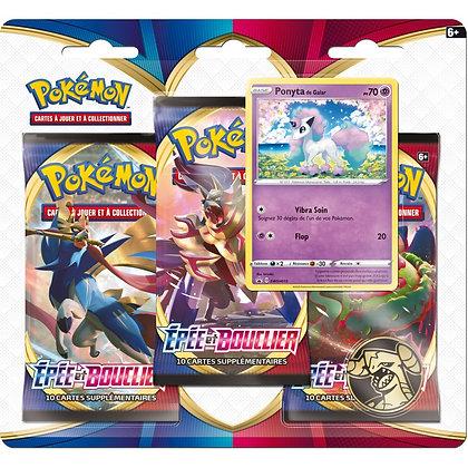 Pokémon pack de 3 boosters Epée et Bouclier