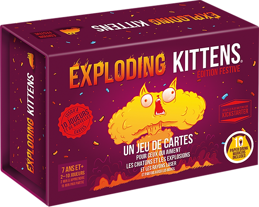 Exploding Kittens version festive
