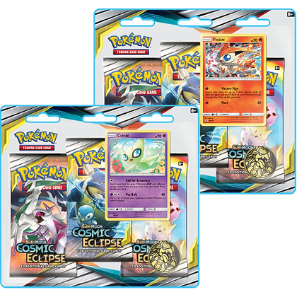 Pokémon pack de 3 boosters Eclipse Cosmique