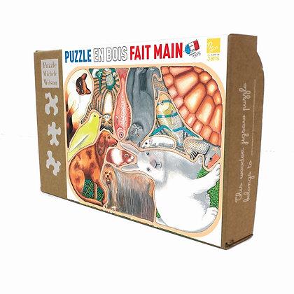Puzzle Wison 12p Animaux familiers en folie