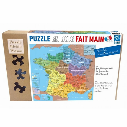 Puzzle Wilson 100p carte de France départements